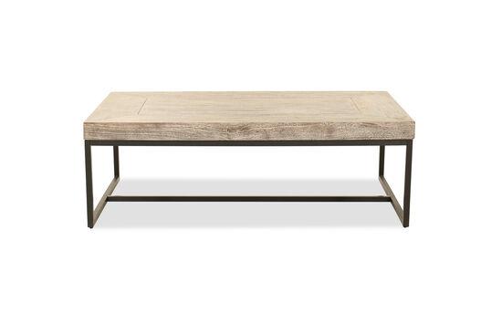 Solid Mango Wood Rectangular Coffee Table in Gray