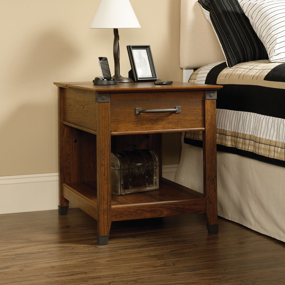 Smart Center Side Table In Washington Cherry Mathis