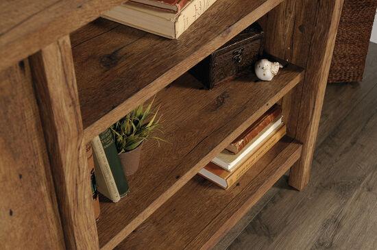 Three-Adjustable Shelf Contemporary Console in Vintage Oak