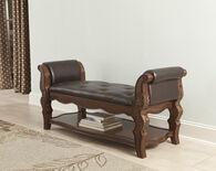 Ashley Ledelle Brown Upholstered Bench