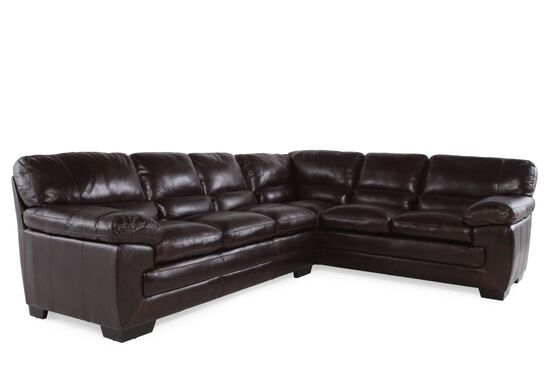 """Two-Piece Leather 96"""" Sectional in Walnut"""