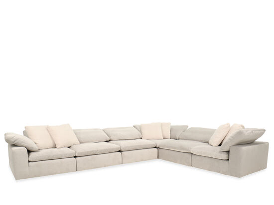 Casual Sectional in Gray