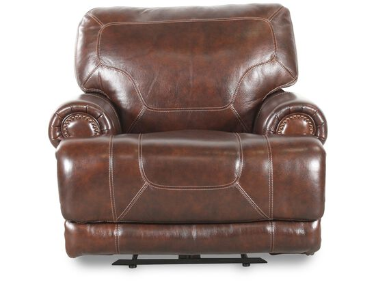 Simon Li Leather Stampede Coffee Recliner