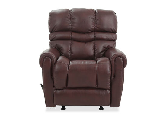 "Transitional 39"" Rocking Recliner in Brown"