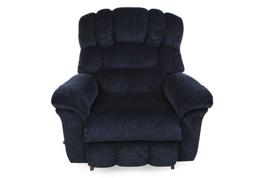 "Textured Casual 46"" Rocker Recliner in Peacoat"