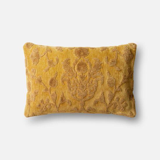 """Contemporary 1'-2""""x1'-10"""" Cover w/Down Pillow in Citron"""