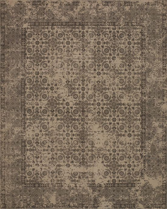 """Traditional 1'-6""""x1'-6"""" Square Rug in Beige"""
