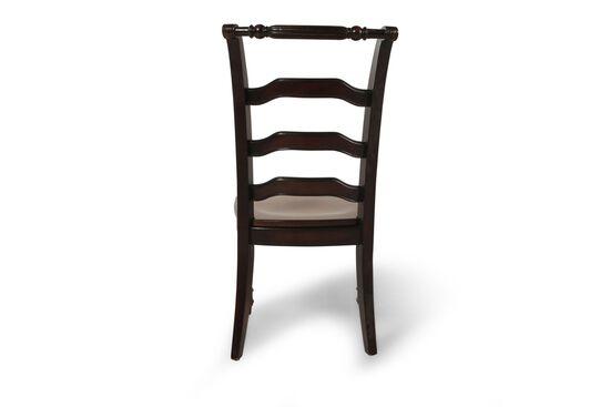 Ladder-Back Desk Chair in Dark Brown