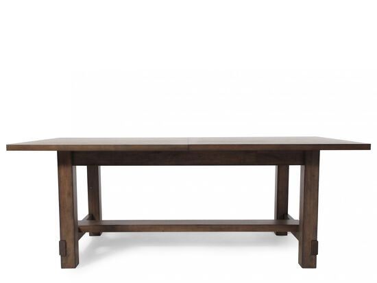 Casual 82quot to 112quot Rectangular Dining Table in Acacia Gray  : MHFI D247104720 from www.mathisbrothers.com size 550 x 413 jpeg 10kB