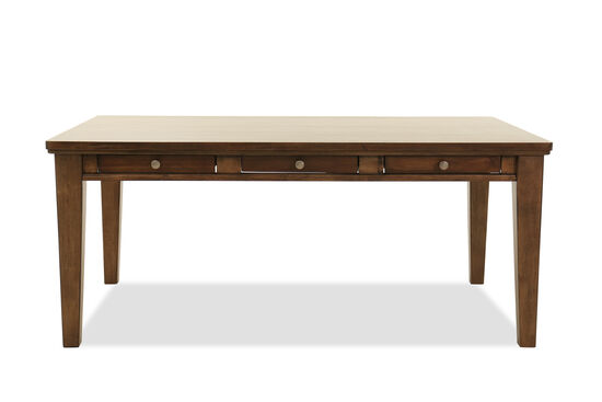 "Rectangular 72"" Dining Table in Light Brown"