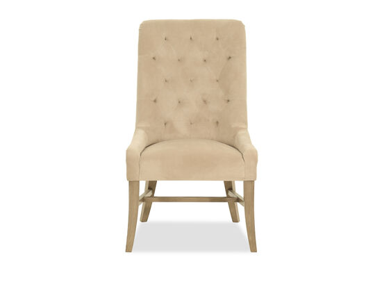 Diamond-Tufted Contemporary Dining Chair in Brown