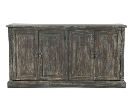 """64"""" Weathered Server in Gray"""