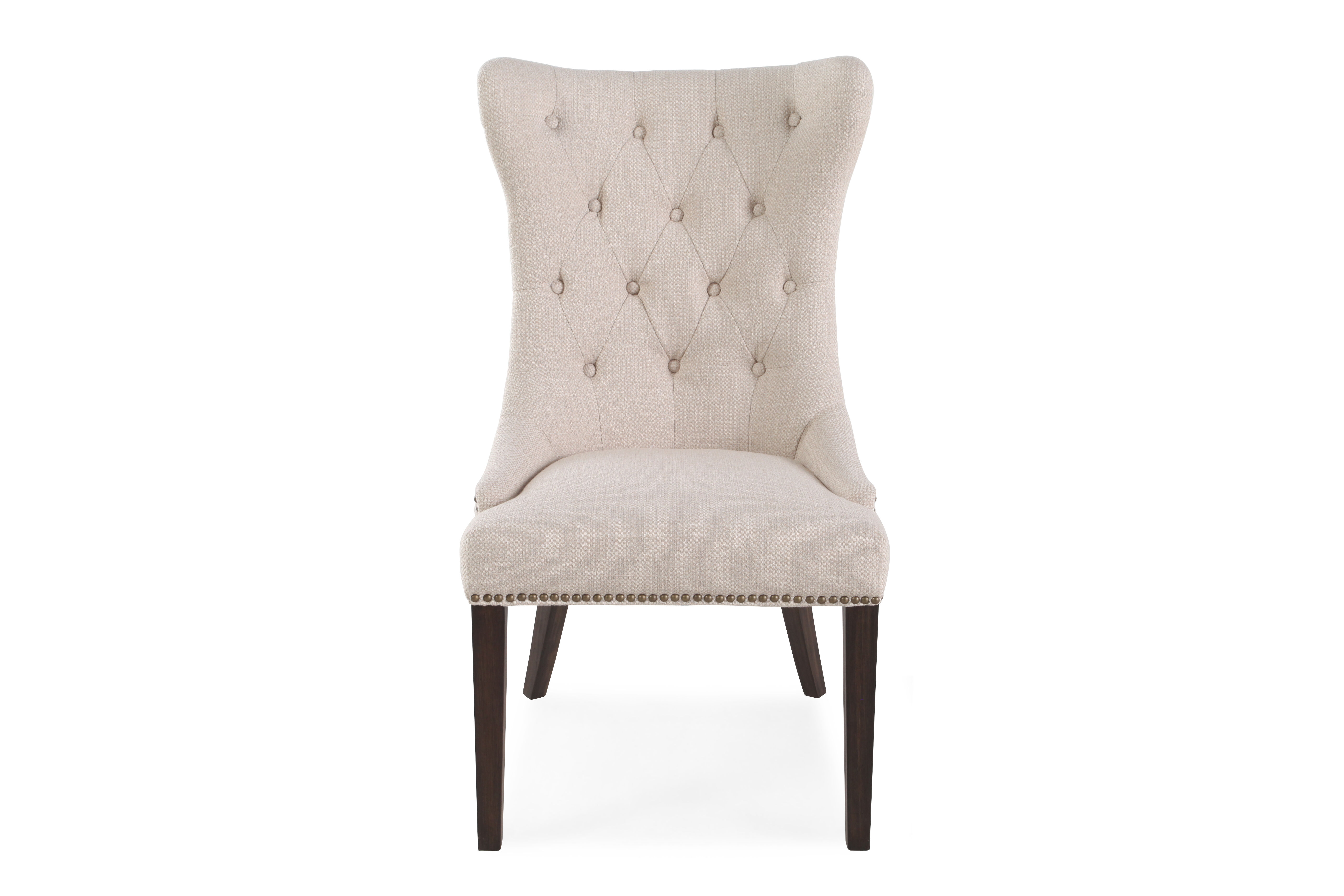 boulevard oatmeal tufted back dining chair