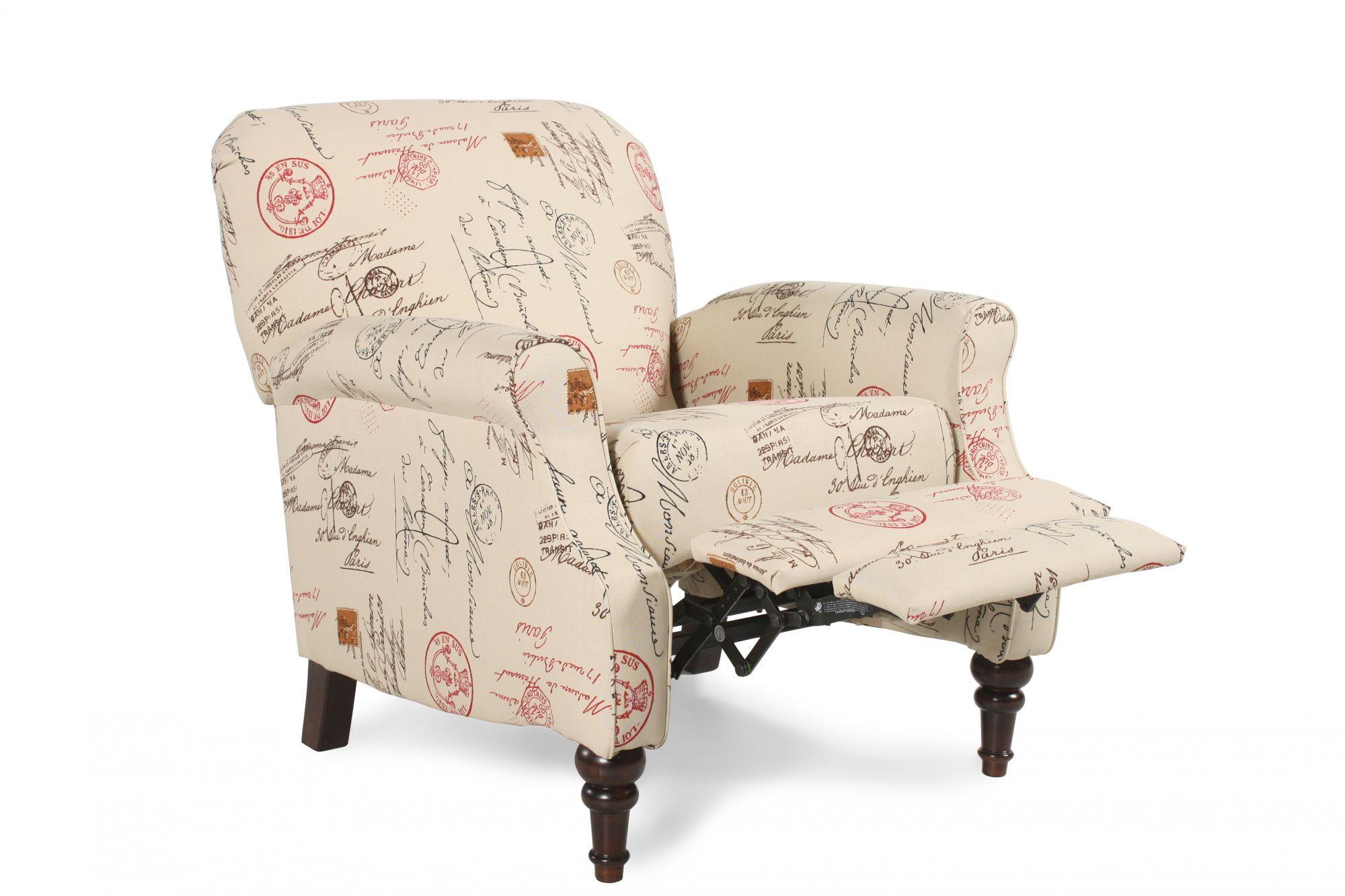 ashley placido script high leg recliner - Serta Recliners