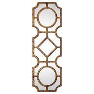 "60"" Solid Pine Geometric Mirrorin Tortoise Shell"