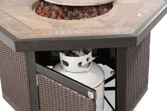 """World Source Oxford 42"""" Firepit Table"""