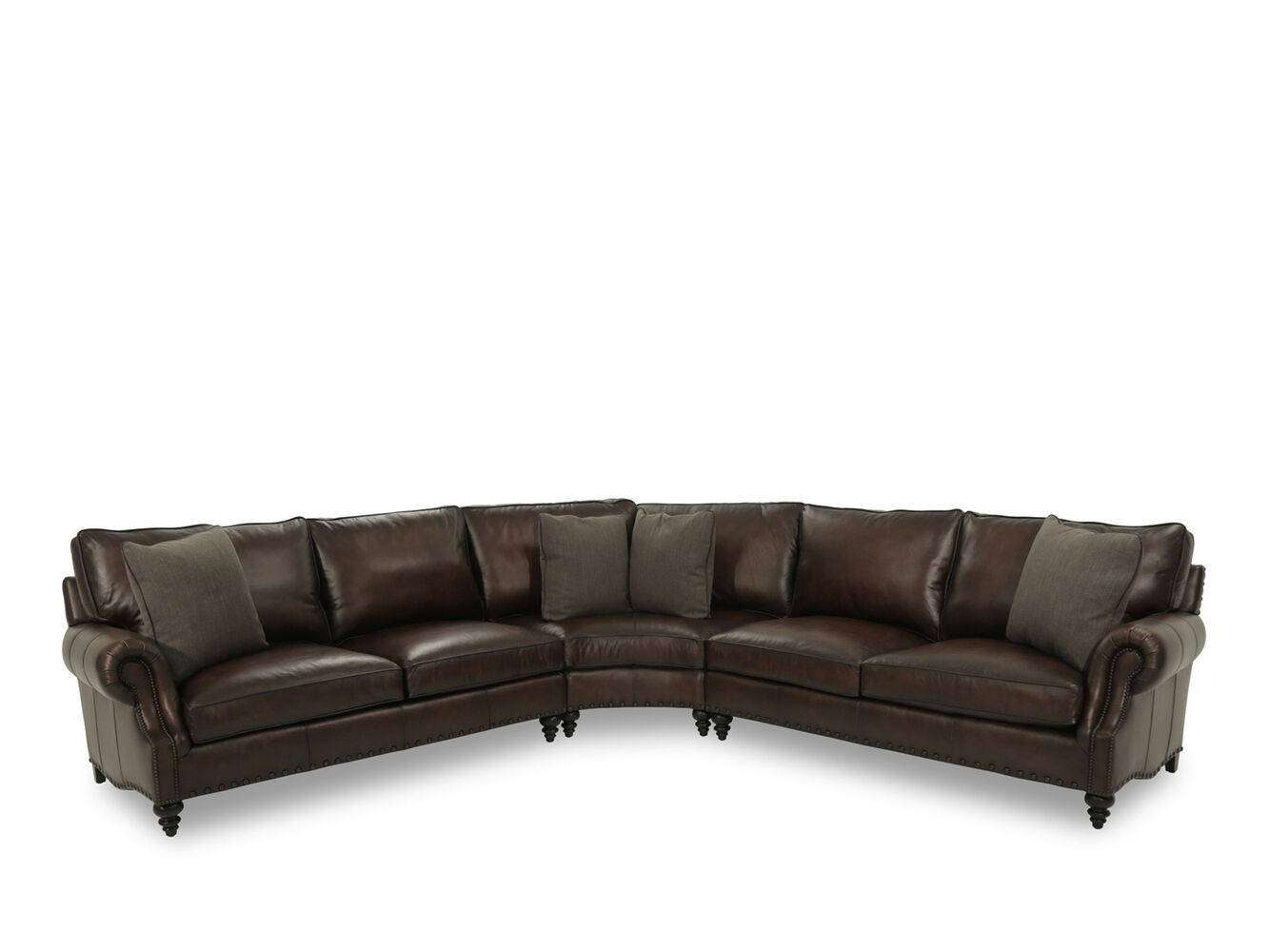 bernhardt fleming leather sectional sofa mathis brothers