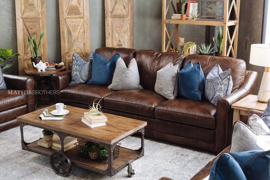 Open-Shelf Rustic Farmhouse Coffee Tablein Dark Brown