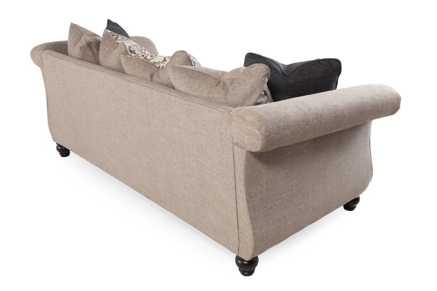 Traditional Nailhead Accented 93 Quot Sofa In Stone Gray