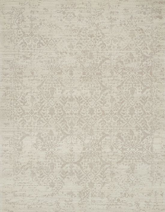 """Transitional 1'-6""""x1'-6"""" Square Rug in Ivory"""