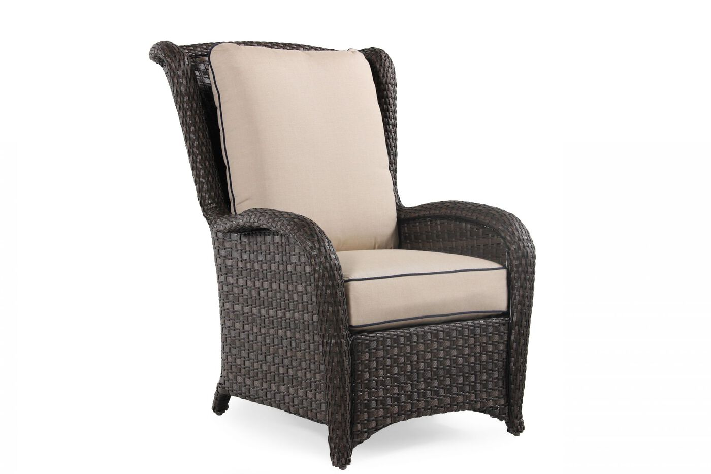 wing back contemporary woven chair in beige mathis. Black Bedroom Furniture Sets. Home Design Ideas