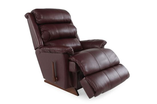 "Contemporary 37.5"" Rocker Recliner in Red"