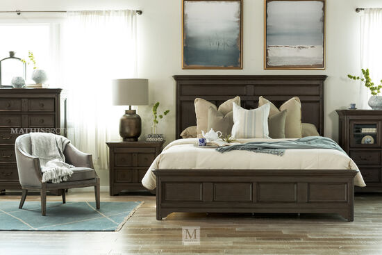 Magnussen Home Shelter Cove Driftwood King Panel Bed