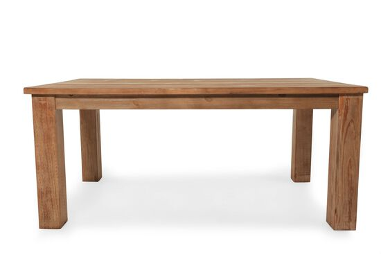 """Casual 40"""" Planked Top Dining Table in Light Brown"""