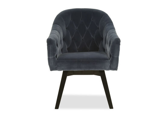 Diamond-Tufted Dining Chair in Blue