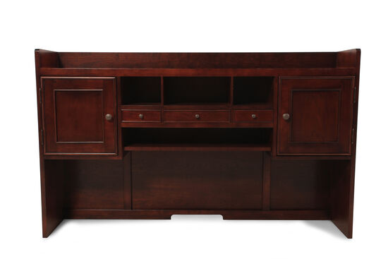 "63"" Contemporary Three-Drawer Hutch in Brown"