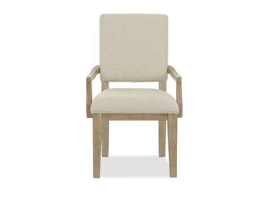 """Traditional 37"""" Arm Chair in Light Brown"""