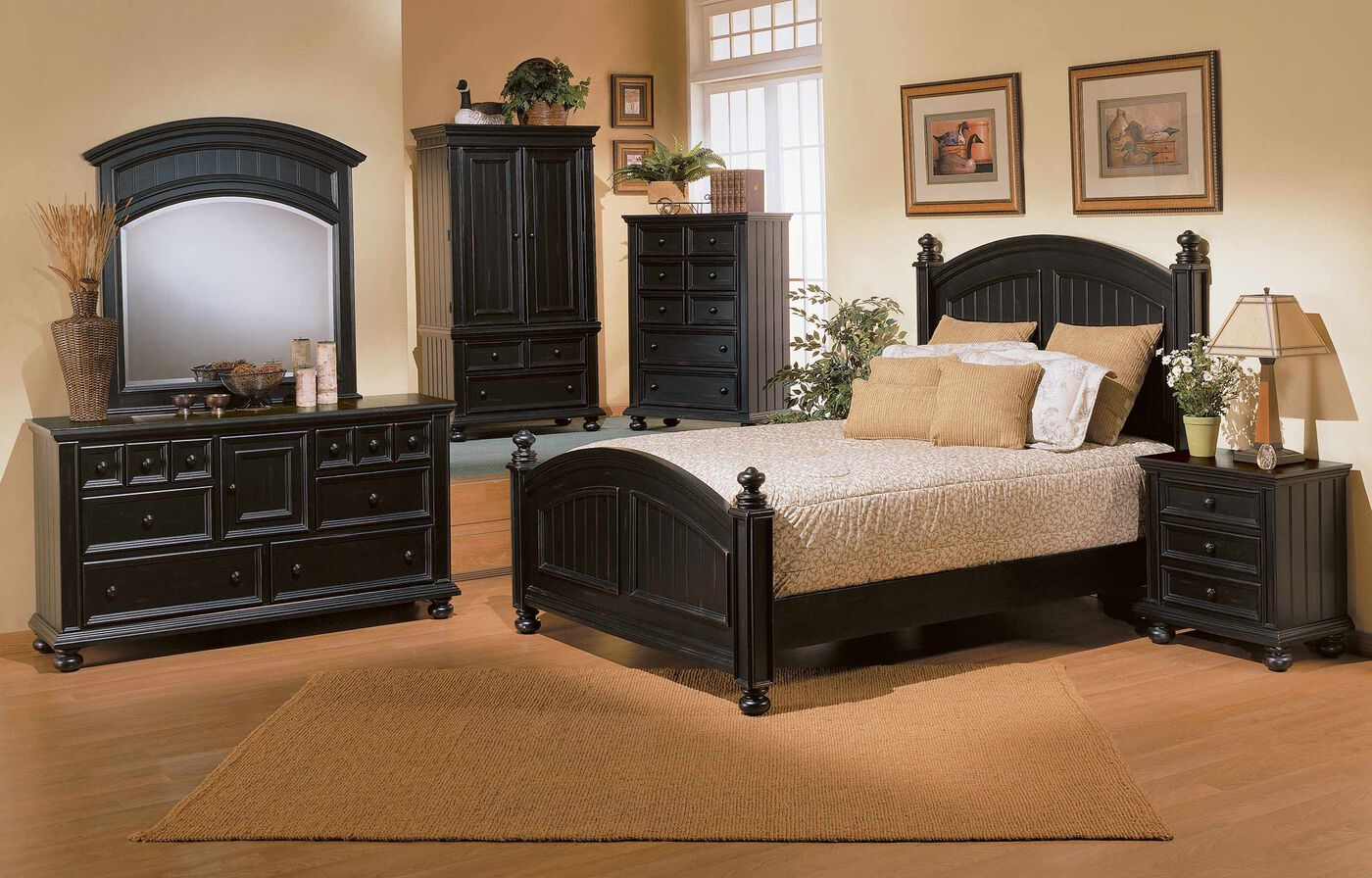 Youth casual planked panel bed in ebony mathis brothers for Youth furniture