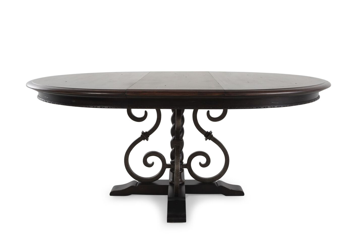 Traditional 54 Quot To 72 Quot Scrolled Pedestal Round Dining