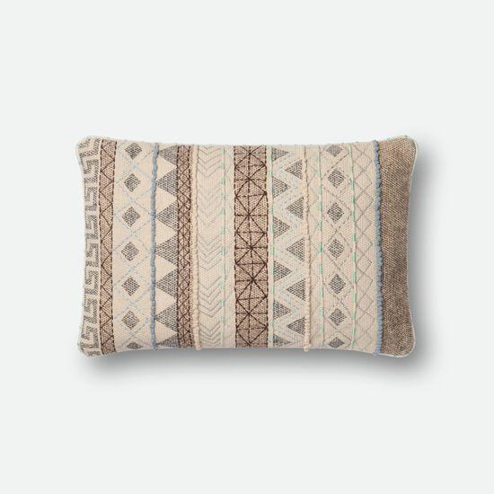 "Contemporary 13""x21"" Cover w/Down Pillow in Multi"