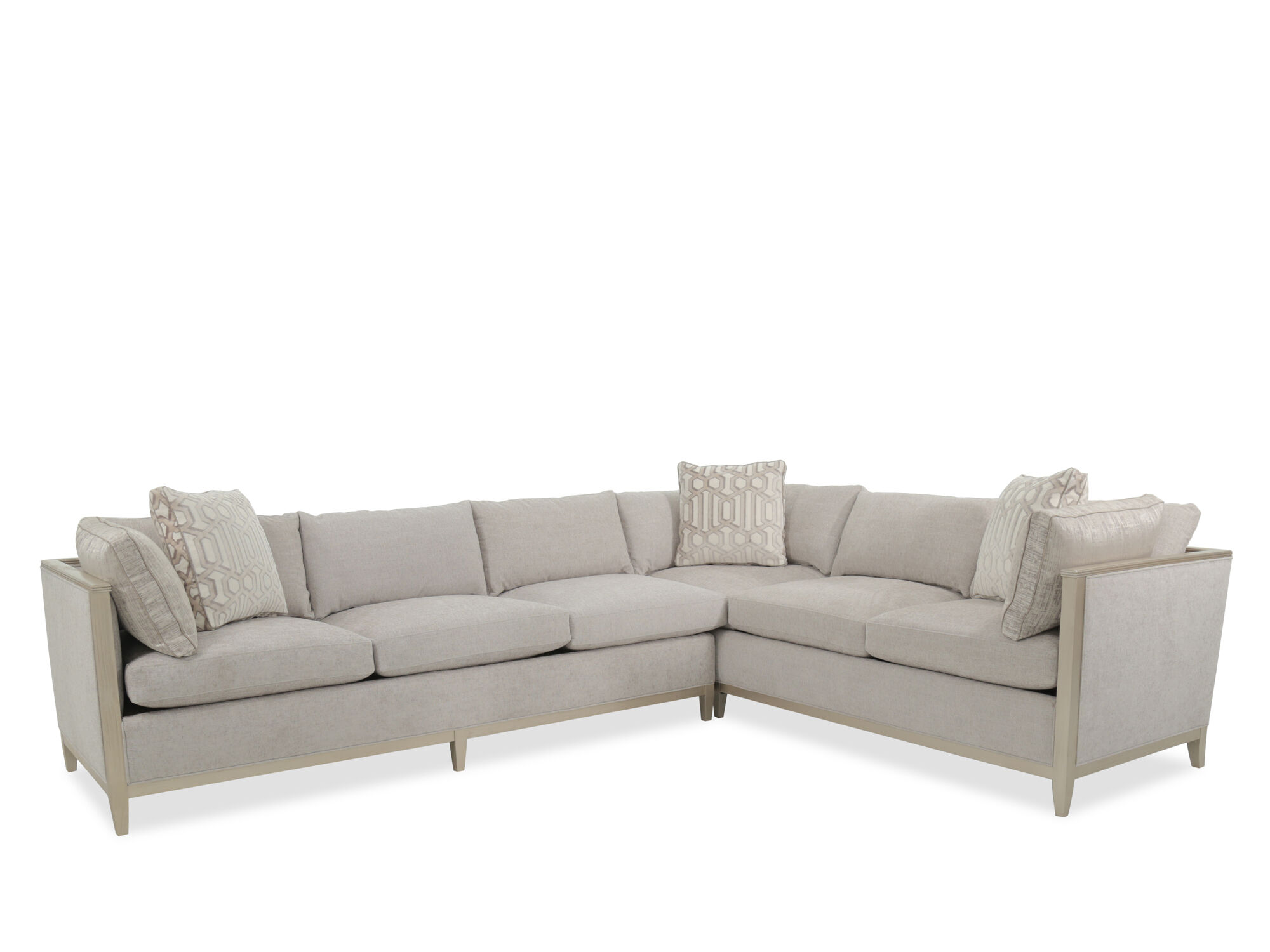 A.R.T. Furniture Cityscapes Astor Crystal Two Piece Sectional Sofa