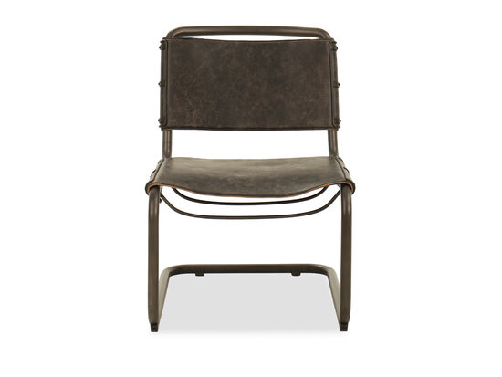 Armless Lounge Chair in Brown