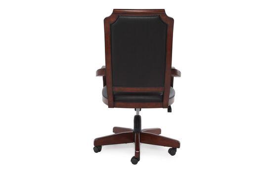 Casters Swivel Office Chairin Dark Cherry