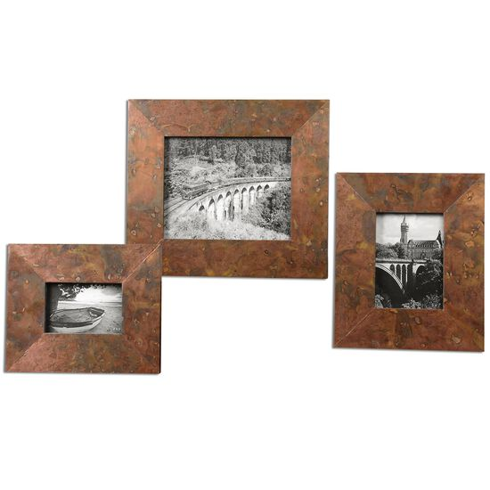 Three-Piece Photo Frames in Copper