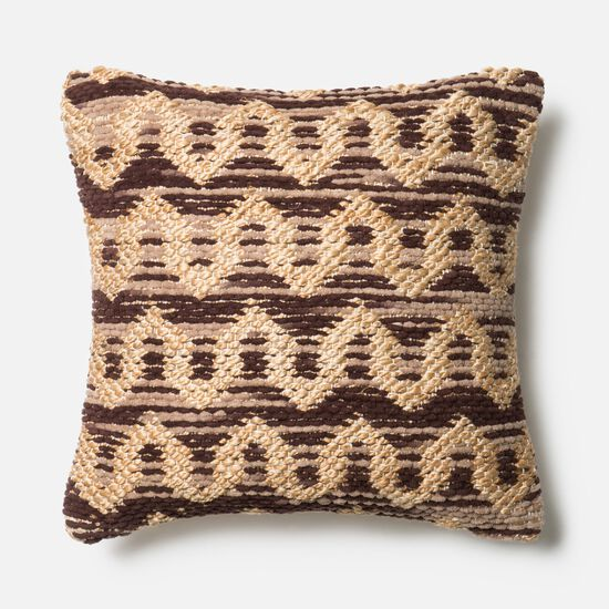 "22""x22"" Pillow Cover Only in Brown/Beige"