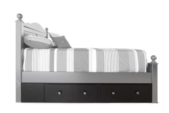 Contemporary Two-Drawer Youth Underbed Storage Unit in Black