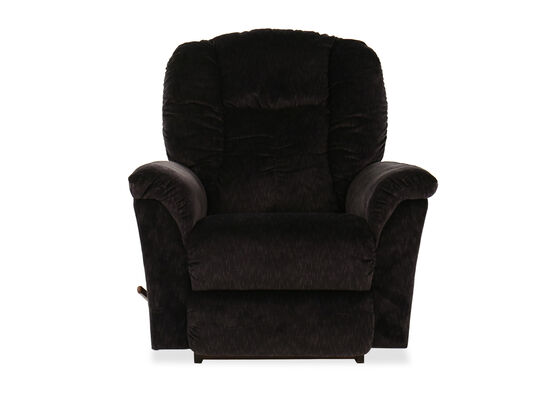 Chaise Seat Casual 40'' Rocker Recliner in Dark Gray