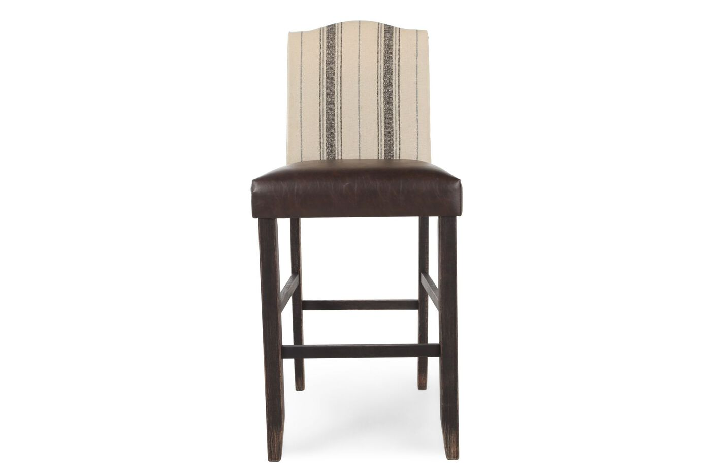 Casual 46 Quot Pair Of Bar Stools In Walnut Mathis Brothers