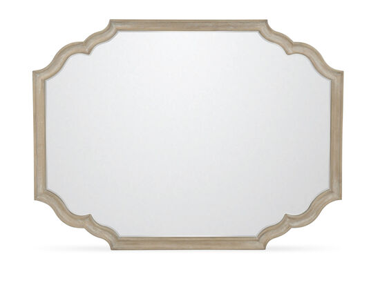 "36"" Traditional Non-Beveled Accent Mirror in Weathered Sand"