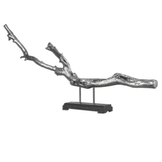 Driftwood Sculpture in Silver