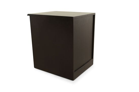 Two-Drawer Contemporary Mobile File Cabinet in Black