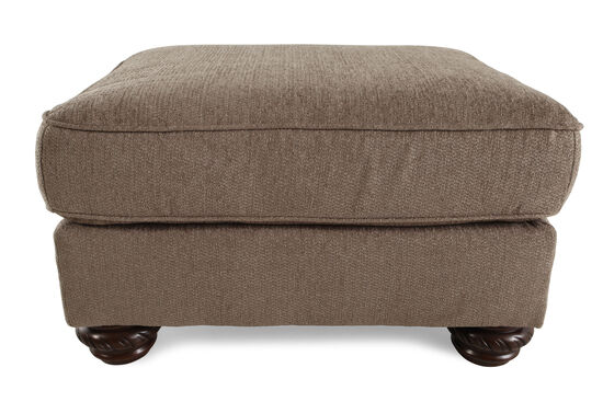 "Traditional 29"" Ottoman in Brown"