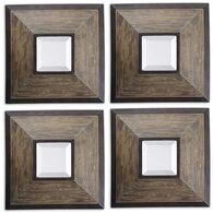 Uttermost Fendrel Squares Wood Mirror Set/4