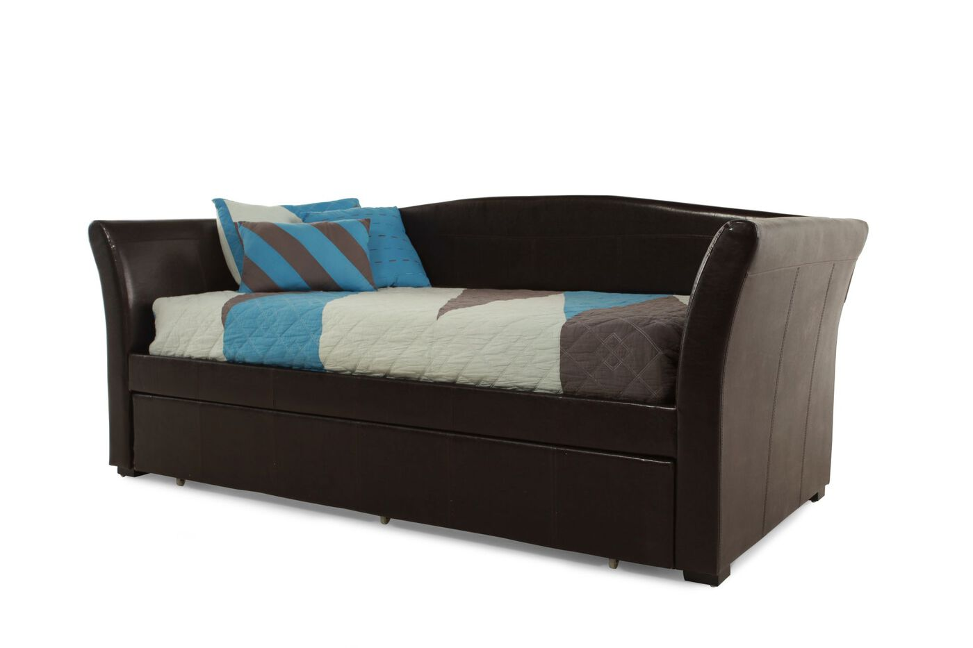 daybed with trundle. Contemporary Youth Daybed With Trundle In Chocolate U
