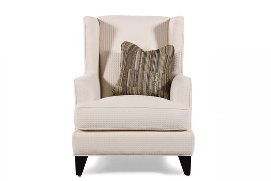 Textured Contemporary Wing Chair in Cream