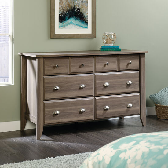 "33"" Contemporary Beveled Dresser in Diamond Ash"